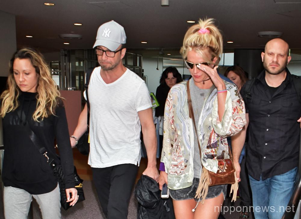 Britney Spears arrives in Japan