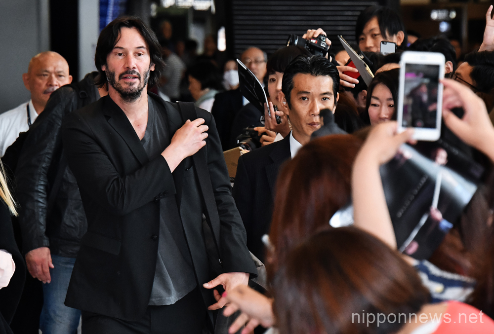 Keanu Reeves arrives in Japan!