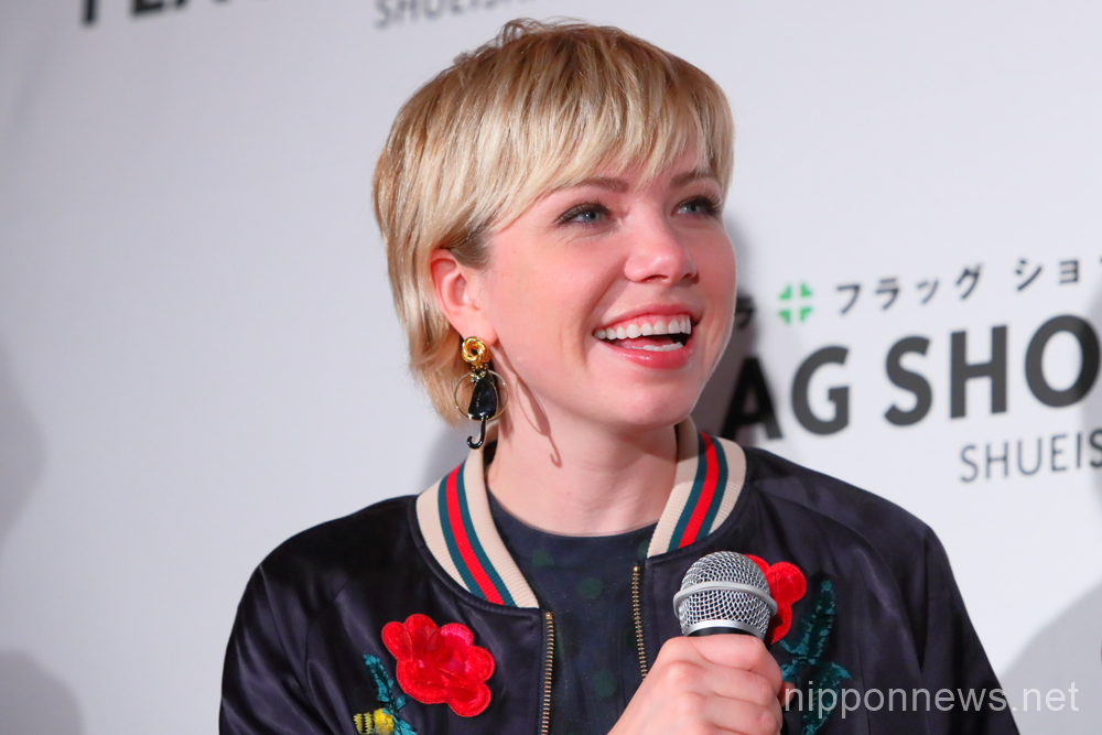 Carly Rae Jepsen attends 10th Anniversary Party for Shueisha Flag Shop in Japan