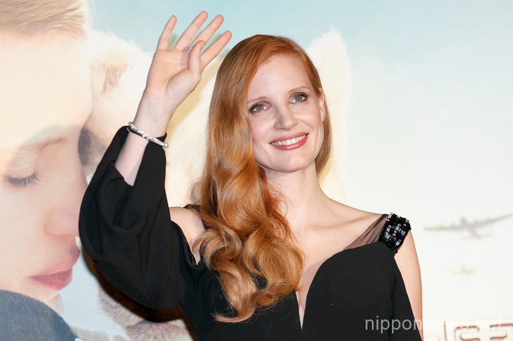 Jessica Chastain wows crowd at her movie promo event in Tokyo