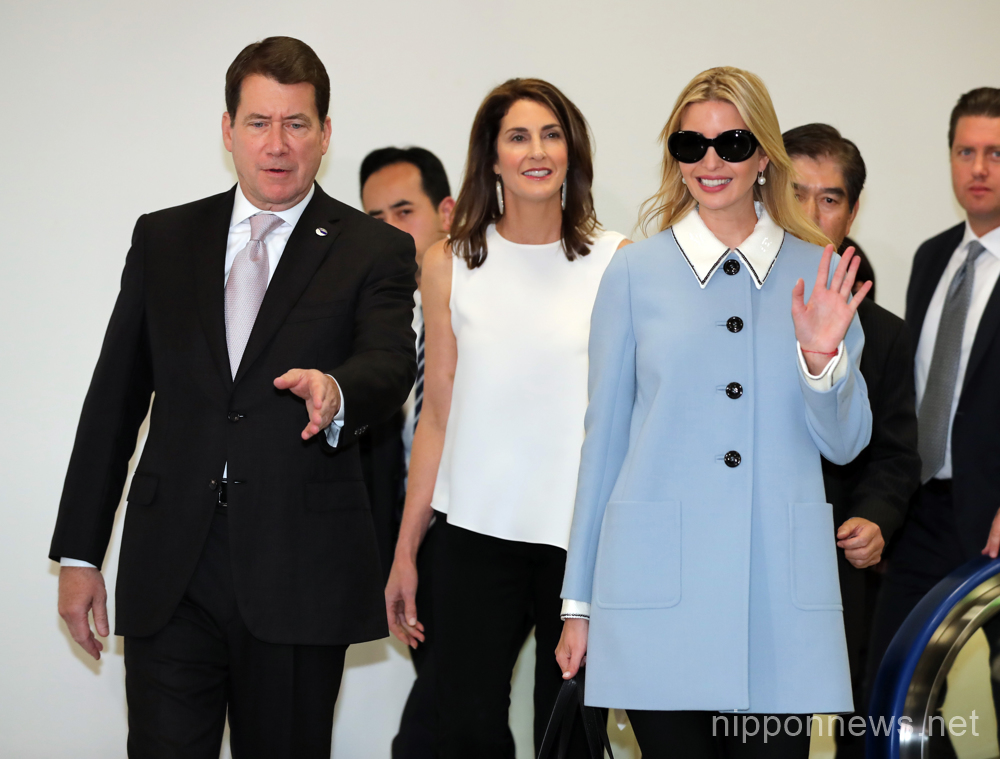Ivanka Trump arrives at Narita International Airport in Japan