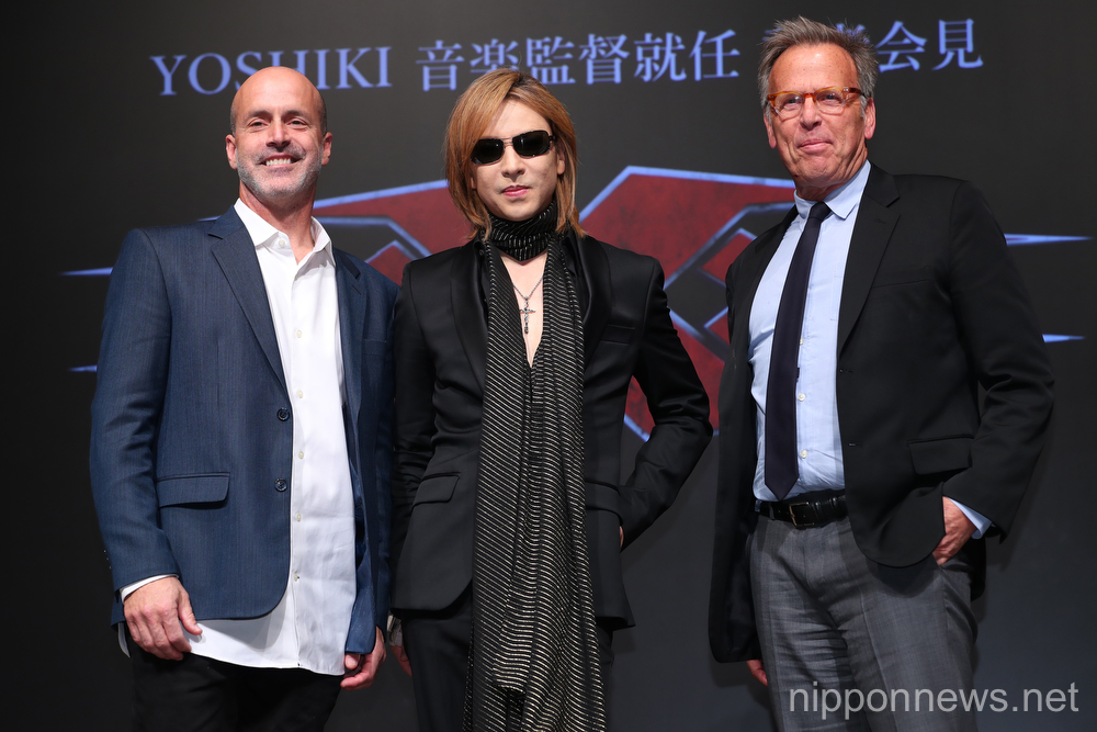 "Yoshiki attends press conference for ""xXx 4"""