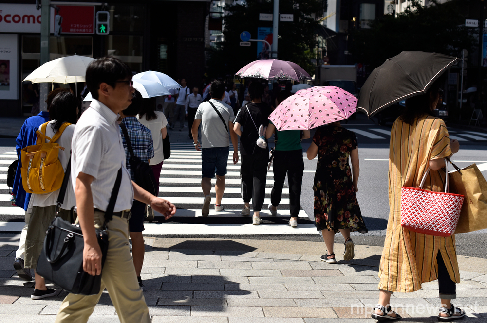 Tokyo swelters as summer heatwave continues