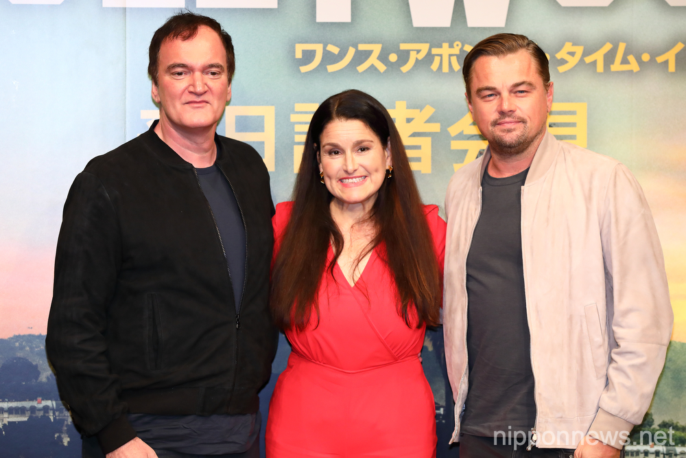 Press conference for Once Upon a Time in Hollywood in Tokyo