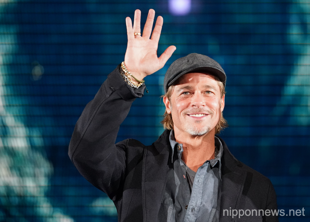 Brad Pitt attends Japan press conference for Ad Astra