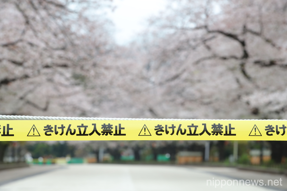 Ueno Park road is closed due to coronavirus